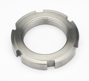 Slotted round nuts for hook spanner